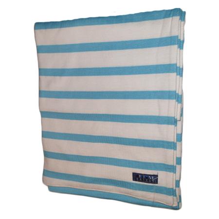 WIT TURQUOISE KATOENEN SJAAL Bretonse sjaal wit-turquoise