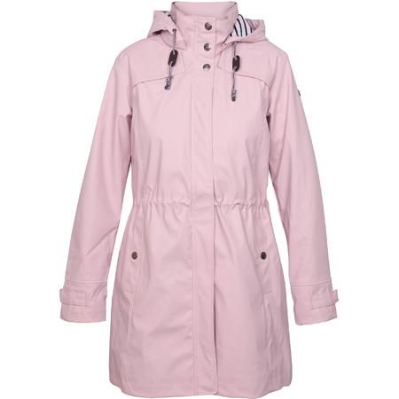 Roze regenjas Terschelling met tailleband waterdicht ademend katoen gevoerd Batela