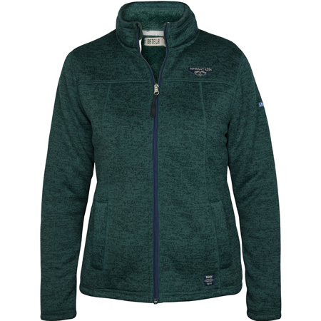 DAMES FLEECE VEST GROEN